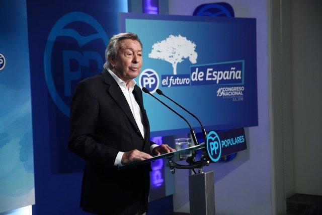 Rueda de prensa del presidente del Comité Organizador del Congreso del PP