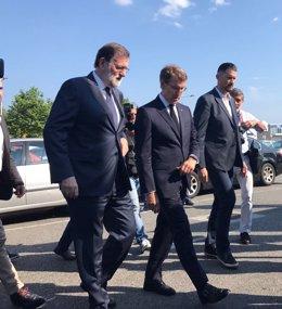 Feijóo y Rajoy juntos el pasado viernes 13 de julio en Boisaca, Santiago