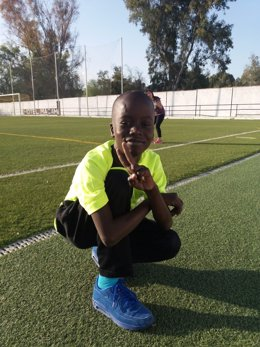 El menor senegalés tras ser intervenido