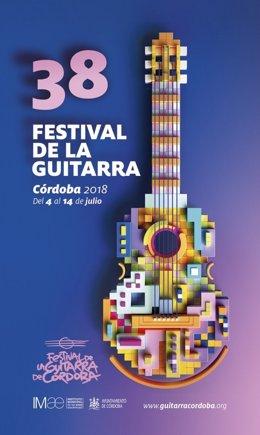 Cartel del 38 Festival de la Guitarra de Córdoba