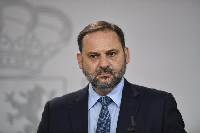 Rueda de prensa del ministro de Fomento, José Luis Ábalos