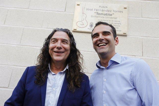 Inaugurada la plaza de José Fernández Torres 'Tomatito' en la capital