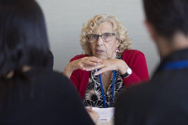 La alcaldesa de Madrid, Manuela Carmena, interviene en la ONU