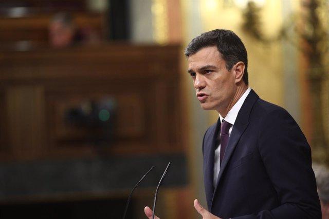 Pedro Sánchez informa al Congreso de su programa de gobierno