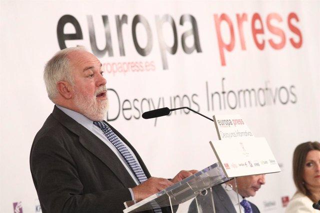 Desayuno Informativo de Europa Press en Madrid con Miguel Arias Cañete