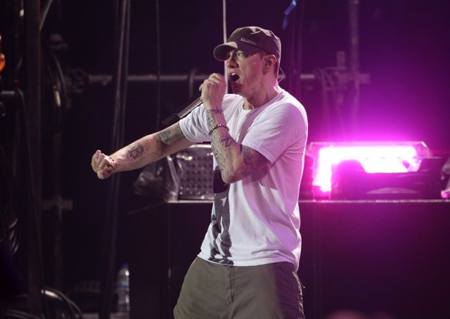 Embargoed to 1800 Monday January 15 File photo dated 24/08/13 of Eminem, who has