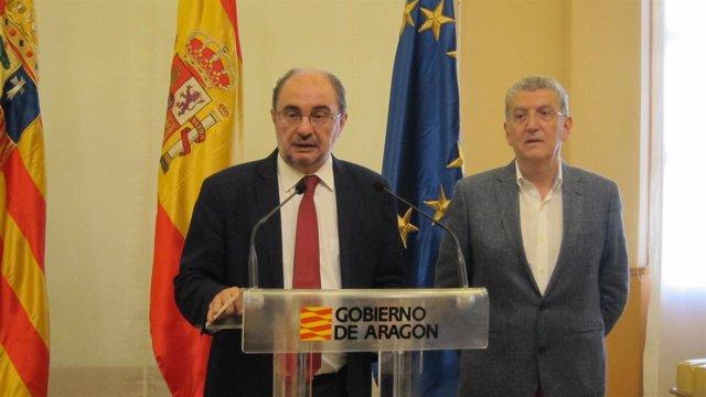 Javier Lambán anuncia la dimisión de Sebastián Celaya como consejero de Sanidad