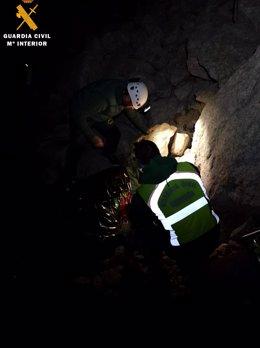 La Guardia Civil ha localizado esta madrugada a los dos accidentados