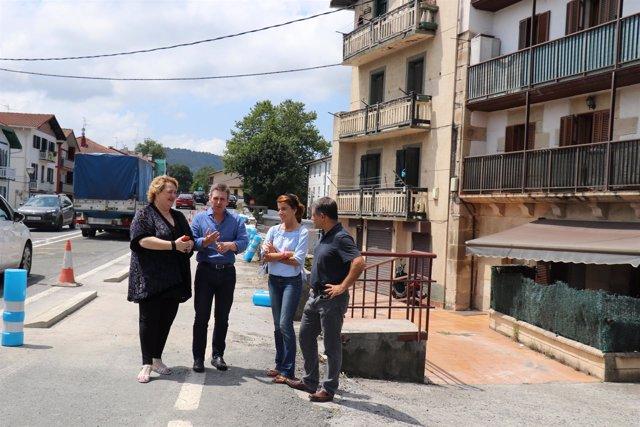 Paso peatonal en el barrio de Ventas de Irun