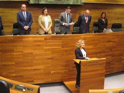 Patricia García Villanueva jura su cargo como diputada por Foro Asturias en la Junta General