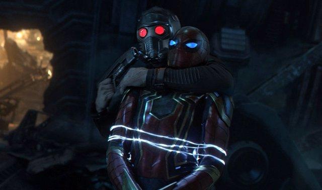 Spiderman y Star Lord en Vengadores: Infinity War