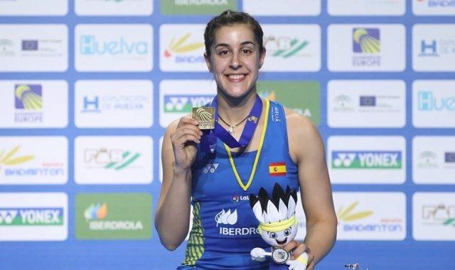 Carolina Marín campeona Europa bádminton