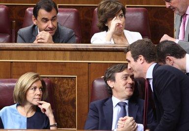 Un altre vídeo retrata la trajectòria de Casado amb Aguirre i Aznar, i critica alguns dels seus suports en campanya (EDUARDO PARRA/EUROPA PRESS)