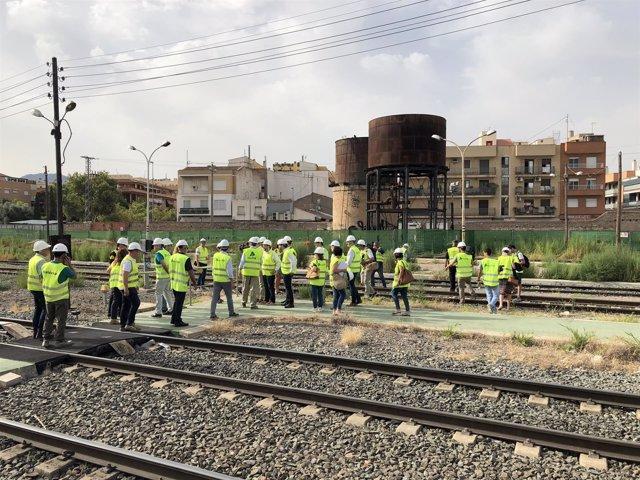 Comisión Especial de seguimiento de la entrada del AVE a Murcia visita las obras
