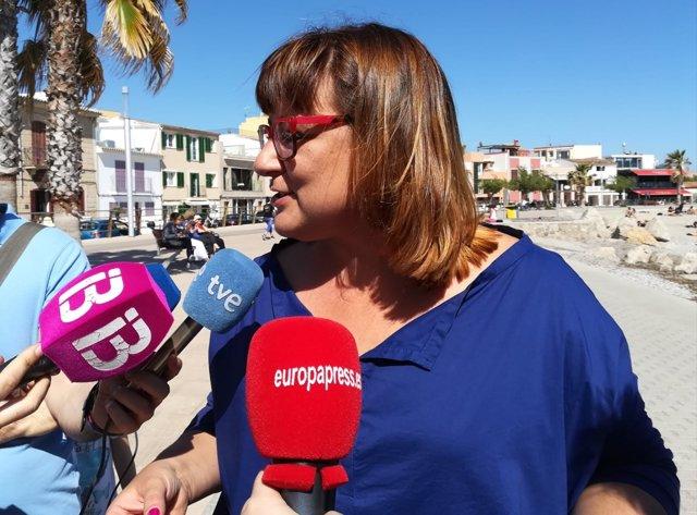 La vicepresidenta Govern y coordinadora de MÉS,Bel Busquets,atiende a los medios