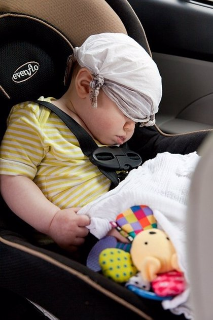 Los bebés son los más vulnerables a sufrir un golpe de calor