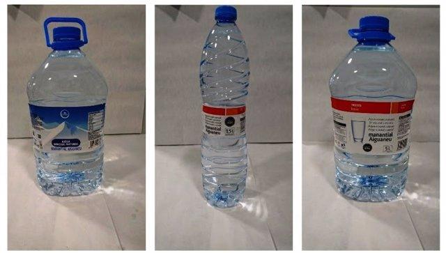 Botellas de Condis y Eroski