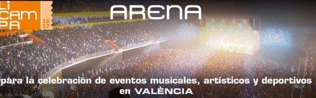 Proyecto de construcción del Arena en València