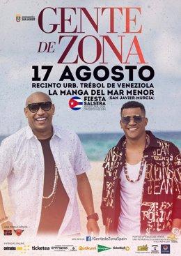 Los cubanos de Gente de Zona ofrecerán un concierto en La Manga