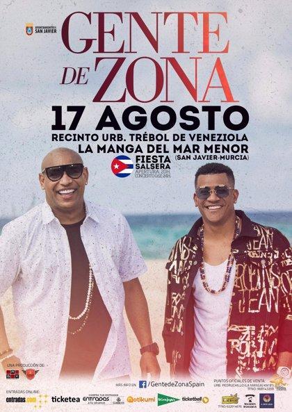 Los cubanos de Gente de Zona ofrecerán un concierto en La Manga (España) el 17 de agosto