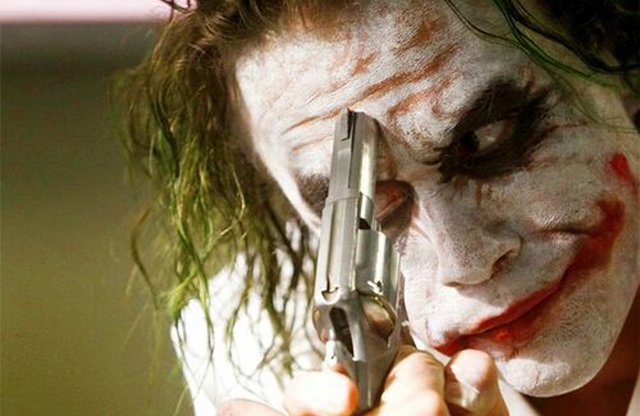 Joker en El caballero oscuro de Nolan