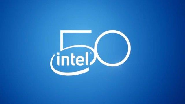 Logo de Intel por su 50 aniversario