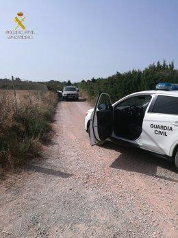 Vehículo de la Guardia Civil que logró detener a los conductores del todoterreno