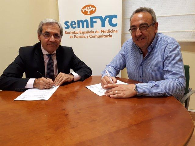 Firma del acuerdo entre semFYC y SEFAP