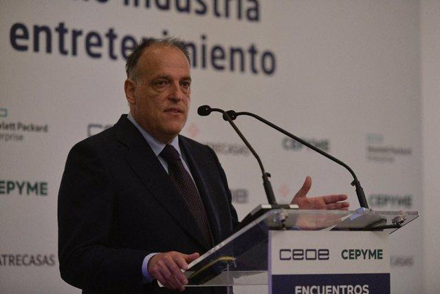 Javier Tebas en el Encuentro CEOE-CEPYME