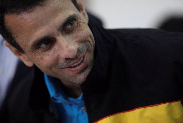 Venezuelan opposition leader and Governor of Miranda state Henrique Capriles att