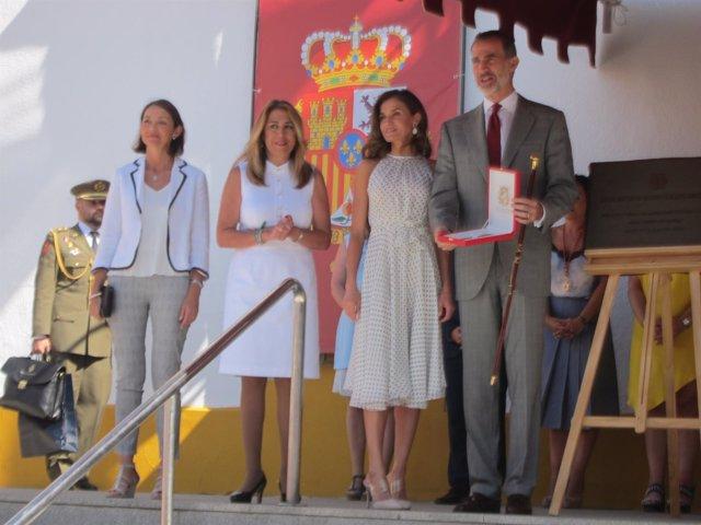 Felipe VI tras entregarle la llave de la ciudad