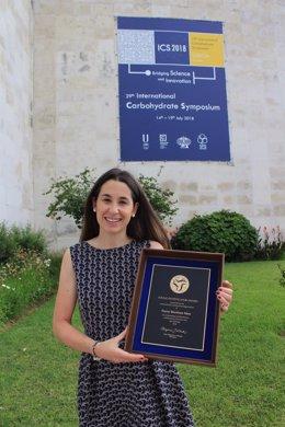 Nuria Martínez, con el premio