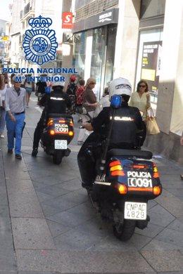 Agentes motorizados por las calles de Mérida