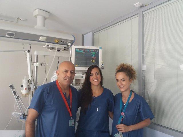 Profesionales de enfermería de la UCI Pediátrica del Materno por seguridad pacie