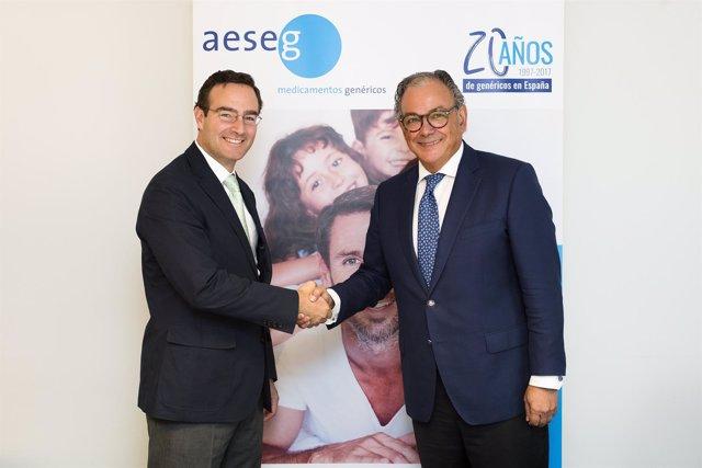 Izq a der. Luis de Palacio (FEFE) y Ángel Luis Rodríguez de la Cuerda (AESEG)