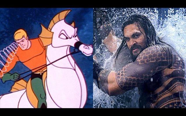 Aquaman monta su colosal dragón marino antes de estrenar tráiler en la Comic Con