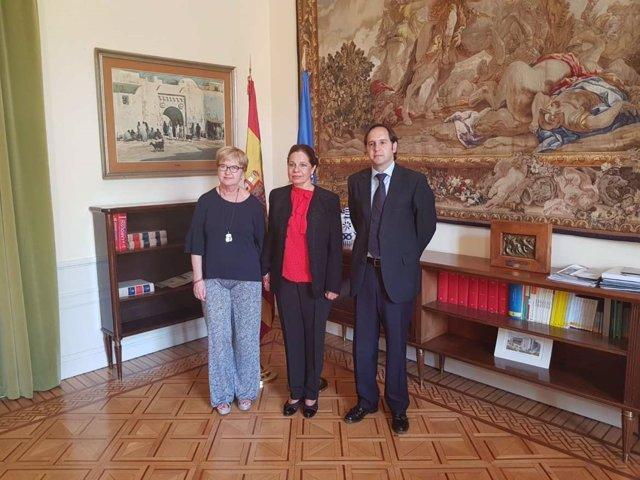Reunión del secretario general de Presidencia, Fernando Blanco