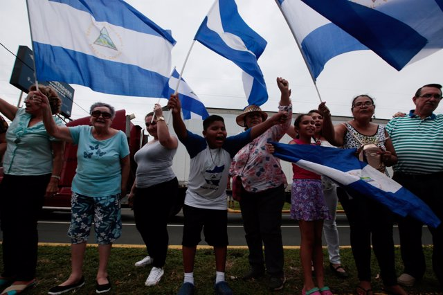 Manifestación contra Daniel Ortega