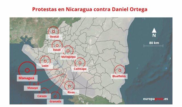 Cronología de las protestas contra Ortega en Nicaragua