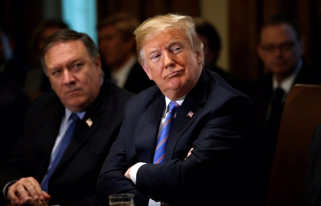 Donald Trump y Mike Pompeo