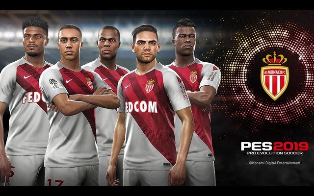 Konami anuncia una portada de PES 2019 con jugadores del AS Monaco y a Radamel Falcao como embajador