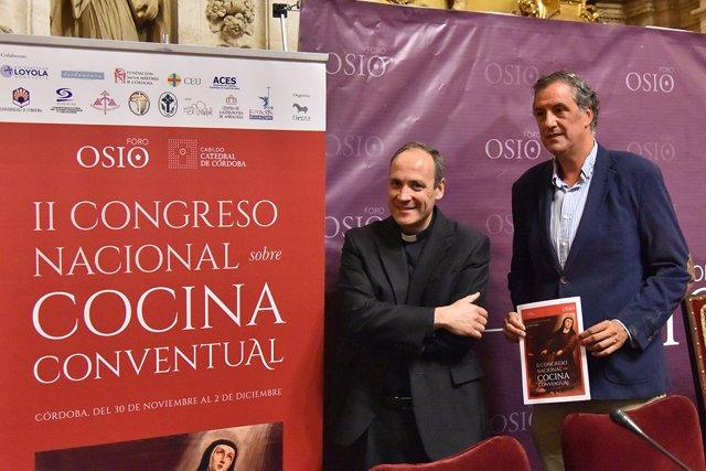 Prieto y Pemán en la presentación del Congreso de Cocina Conventual