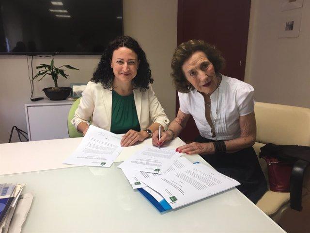 Virgen del Rocío firma un convenio con Andex