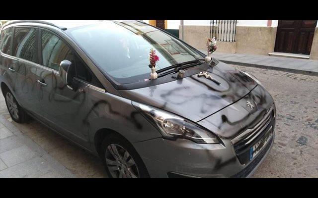 Detenido un varón por destrozar el vehículo de su expareja en Cantillana (Sevilla)