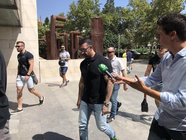 El líder de Yomus Vicente Javier Estruch, 'L'Alfarrasí', arriba als jutjats