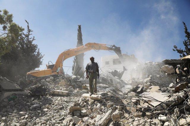 Demolición de la vivienda de una familia palestina en Beit Hanina (Jerusalén)