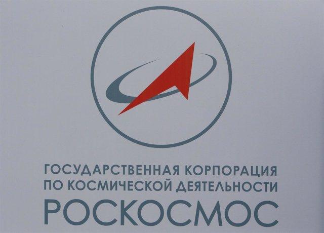 El logotipo de la empresa aeroespacial rusa Roscosmos