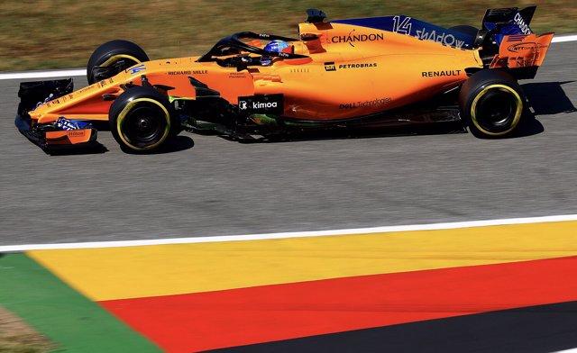 Daniel Ricciardo (Red Bull) en el FP1 del GP Alemania