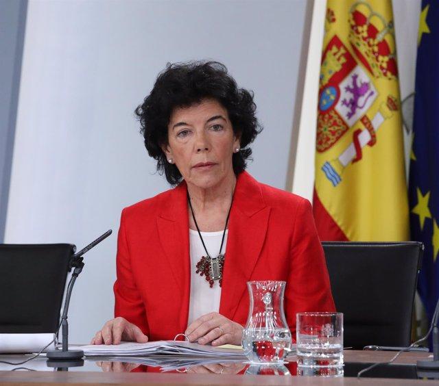 Rueda de prensa tras el Consejo de Ministros de la portavoz del Gobierno