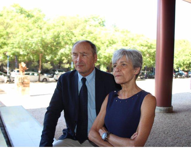 Astronautas  Claudie y Jean Pierre Haigneré